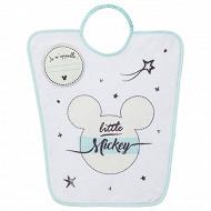 Bavoir maternelle 35x38cm élastique étiquette Je m'appelle Mickey Disney Baby