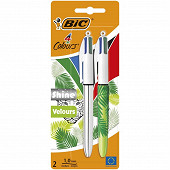 2 stylos 4 couleurs shine/velours