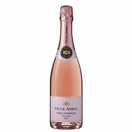 Crémant de Bourgogne millésimé Rosé Brut Veuve Ambal 12% Vol.75cl