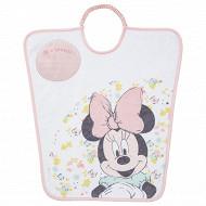Disney baby bavoir maternelle 35x38cm élastique étiquette Je m'appelle Minnie Floral