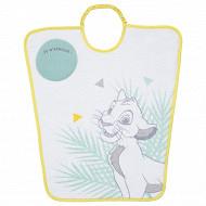 Bavoir maternelle 35x38cm élastique étiquette Je m'appelle Roi Lion Disney baby