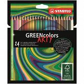 24 crayons de coloriage stabilo green colors arty