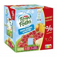 Pom'potes ssa pomme/poire pomme/fraise pomme framboise 96x90g