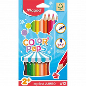 Maped 12 crayons de couleurs maxi early age