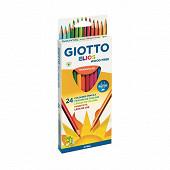 Giotto étui crayons de couleur elios wood free x24