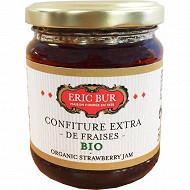 Eric Bur confiture extra de fraises bio 250g