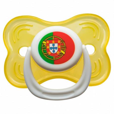 Babycalin sucette 3ème age non fluo - drapeau Portugal