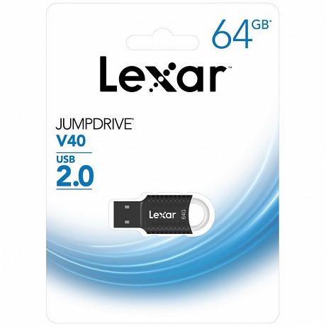 Lexar Clé USB 64gb jumpdrive  v40 usb 2.0 LJDV4064GAB