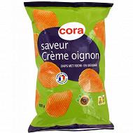 Cora chips saveur crème oignon 135g