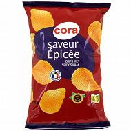 Cora chips saveur épicée 135g