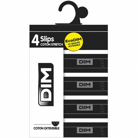 Lot de 4 slips Ecodim NOIR/NOIR/NOIR/NOIR T6