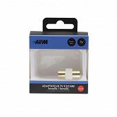 Apm Adaptateur coaxial femelle/femelle 9.52mm