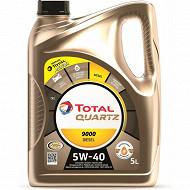 Huile total quartz 9000 5W-40 diesel