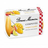 Bonne Maman compotée mangue pêche bergamotte 2x130g