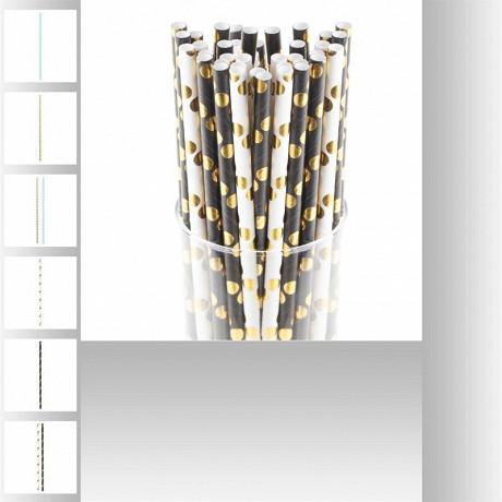 Lot de 100 pailles dorées en papier