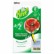 Pyrel 6 pièges stickers mouche coquelicot