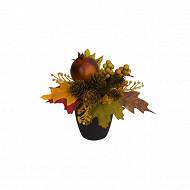 Pot noir cocotte boule fruit d'automne
