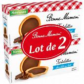 Bonne Maman lot de 2 tartelettes chocolat au lait x9 en sachet individuel