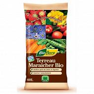 Bioflore terreau maraicher bio 40 litres