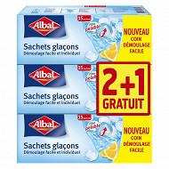 Albal sachets glaçons x3  2+1 offert