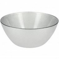 Coupelle 12.7cm en verre graine argent