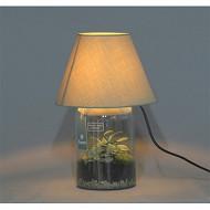 Lampe avec plantes variées