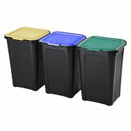 Couverline poubelles recyclage 45l