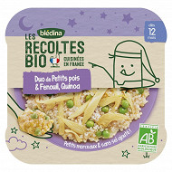 Bledina les recoltes bio duo de petits pois & fenouil, quinoa 230g