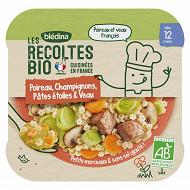 Bledina les recoltes bio fondue de poireaux et champignons 230g