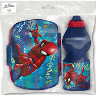 Set 2 pièces gourde et boîte sandwich spiderman graffiti