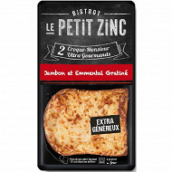 Le Petit Zinc croque monsieur jambon emmental gratiné 2x140g