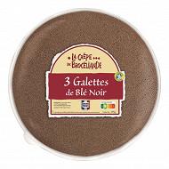 La crêpe de brocéliande 3 galettes de blé noir france en sachet 190g