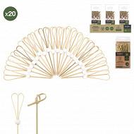 Boîte de 20 piques apéritif bambou