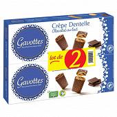 Gavottes lot de 2 etuis crepe dentelle au chocolat noir 180g