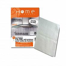 Home Equipement filtre graisse rectangulaire blanc a découper pour hotte 95400/1