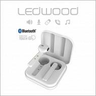 Ledwood Ecouteurs tws bluetooth 5.0 pastel blanc LD-M1011-TWS-WHITE