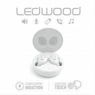 Ledwood Ecouteurs i9w bluetooth 5.0 blanc + boîtier de charge LD-I9W-PAST-WHITE