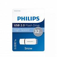 Philips clé usb 32 gb snow grise FM32FD70B-00