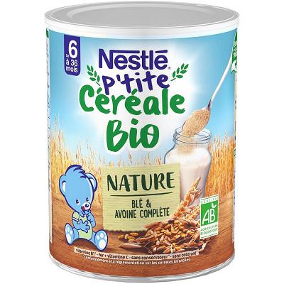 Nestlé Nestle naturnes bio cereales ble et avoine 240g des 6 mois