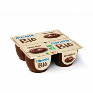 Danette crème dessert bio chocolat 4x95g