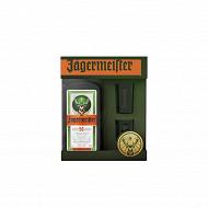 Liqueur Jagermeister 70cl 35%vol coffret deux verres