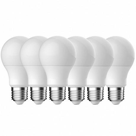 Gétic ampoule led A60 smd équivalent 60WE27 4000k lot de 6