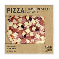 Pizza jambon speck mozzarella 420g