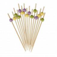 Pique x50 bambou boule 3 décor