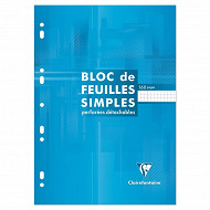 Clairefontaine bloc feuille simple 210x297 160 pages 5x5