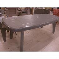 Table sorrento coloris gris 170-220x95x72 cm