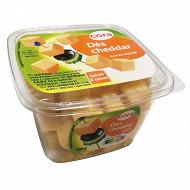 Cora dés de cheddar apéritif et salades barquette 34%mg 150g