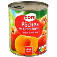 Cora pêches demi-fruits préservées 4/4 820g