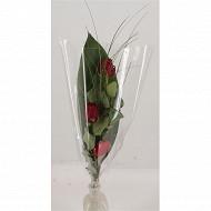 BQT 2 roses rouge + déco