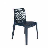 Chaise gruvyer polypropylène coloris bleu pétrol